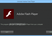 Macromedia flash player uninstaller